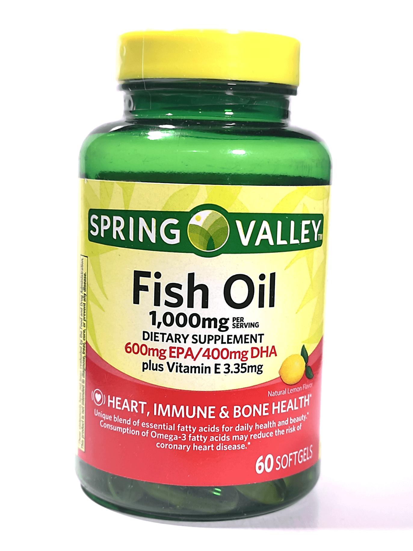 Fish Oil - spring Valley con Omega 3