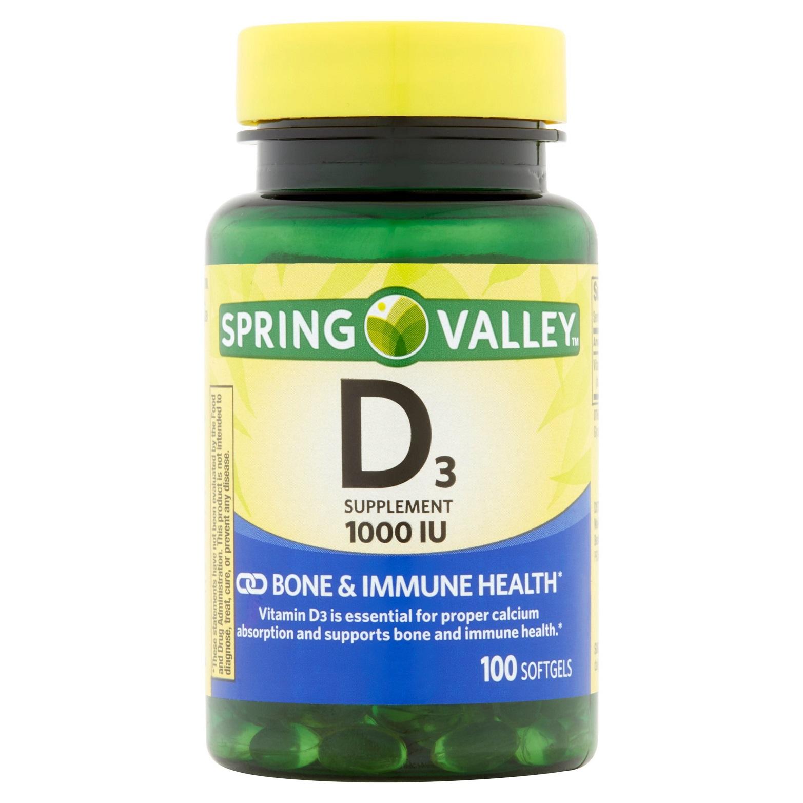 Vitamina D3 - Spring Valley