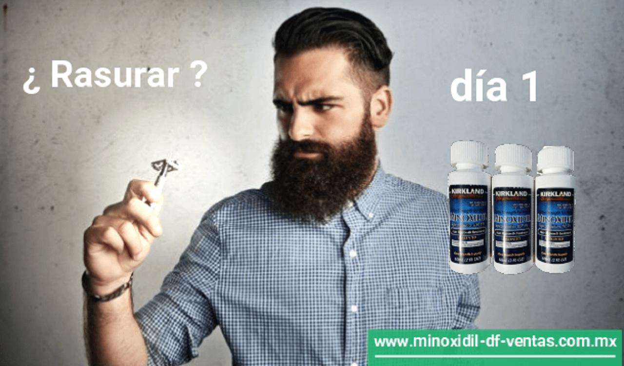 rasurar o no mientras uso minoxidil barba