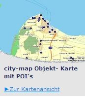 City Map Karte mit POI`s