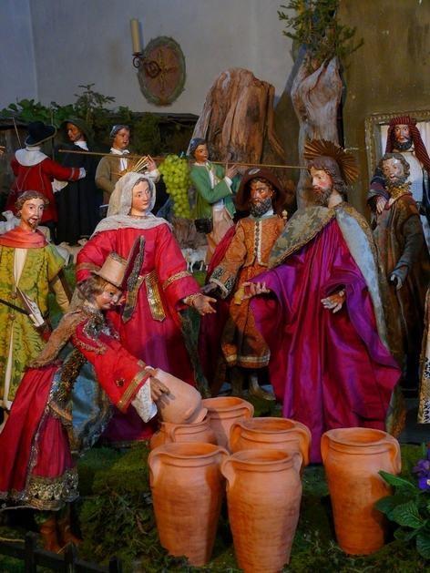 Christus mit Maria und Apostelgruppe