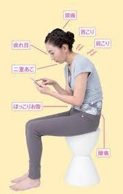 どうしても必要以上に下向く時間の長いスマホの閲覧。正しい姿勢で使用しないと、いつかは不調の原因に