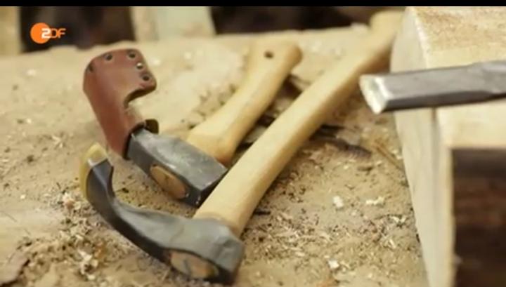 Hohldechsel - ein Handwerkzeug des Mollenhauers