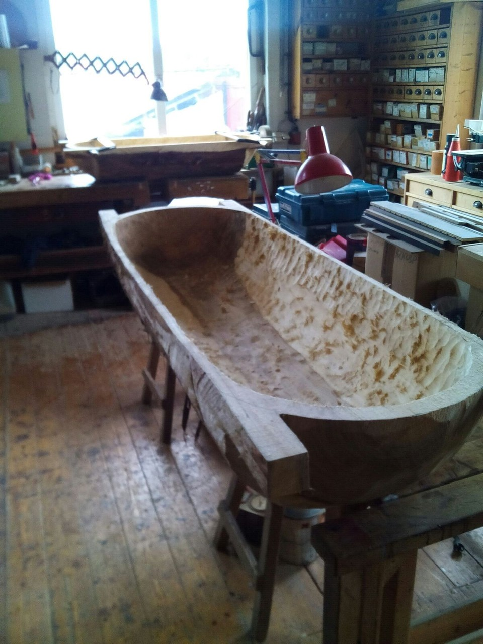 Die Backmolle ist fertig ausgefräst und die Form klar herausgearbeitet
