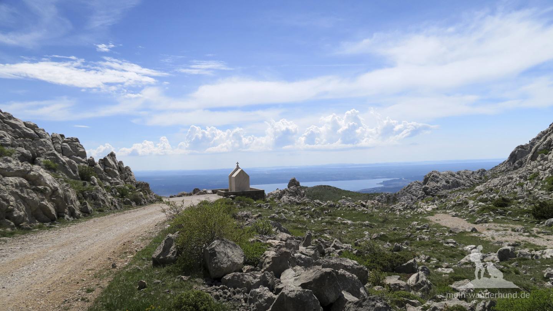 Urlaub mit Hund in Kroatien: Mali Alan,  Sicht ins Tal