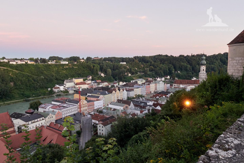 Blick von der Burg Burghausen auf die Altstadt.