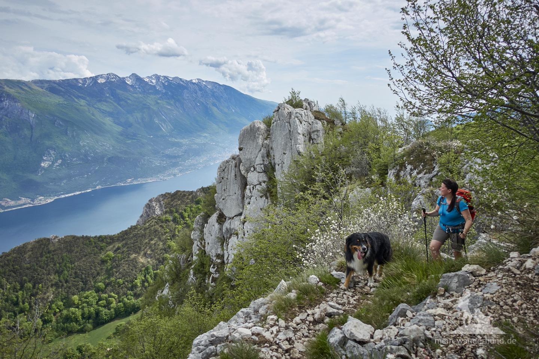 Wandern mit Hund Gardasee: entlang der Cima della Nara