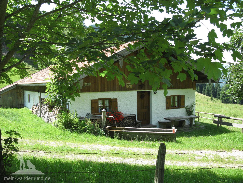 Über mehrere Almen führt der Weg Richtung Kroatensteig.