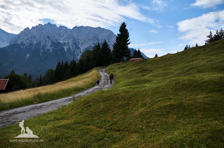 Typisch für die Kranzbergrunde: Holzhütten ...