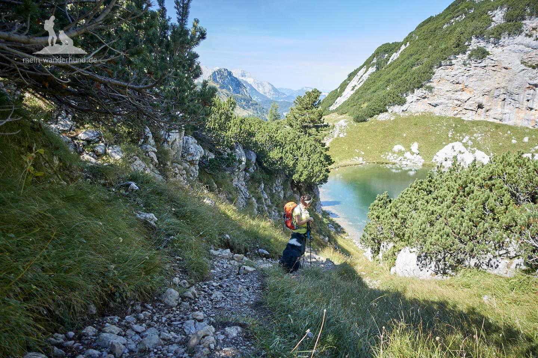 Wandern mit Hund Seehorn: Über dem Seehornsee.