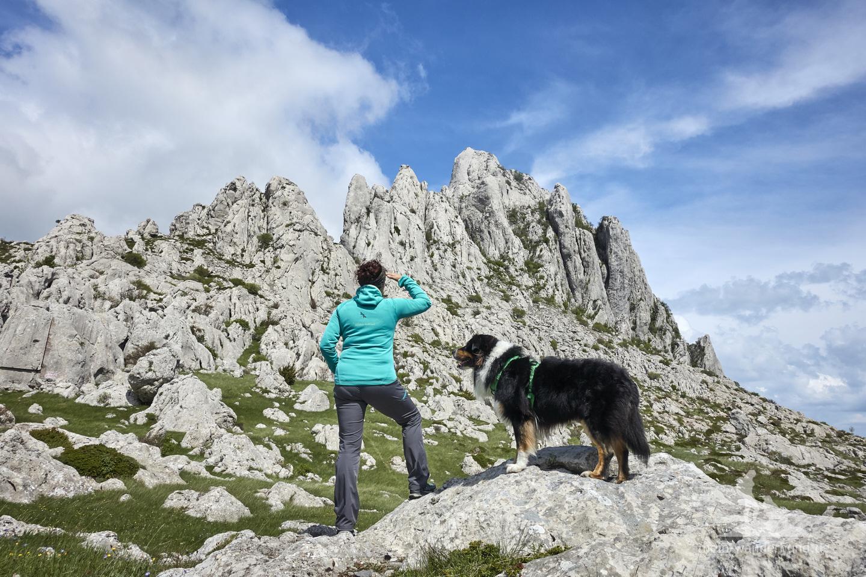 Urlaub mit Hund in Kroatien: Mali Alan, Aussicht auf den Tulove Grede