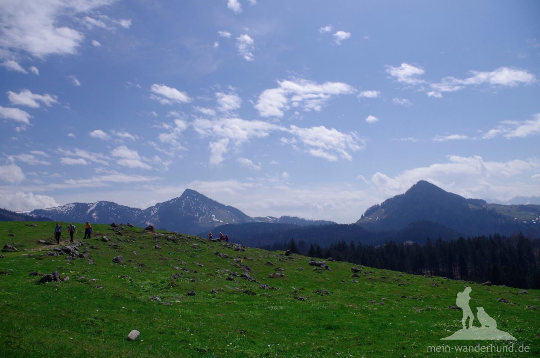 Schließlich erste Bergblicke ...