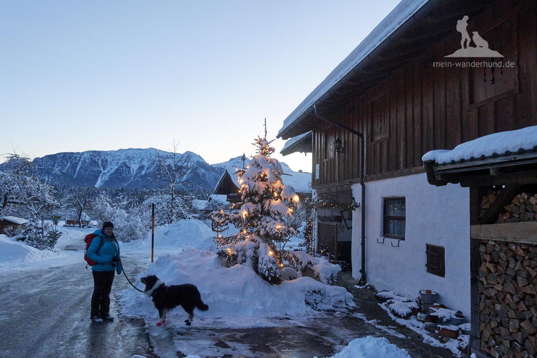 Winter Wanderung Inzell: Weihnachts-Atmosphäre gabs auch