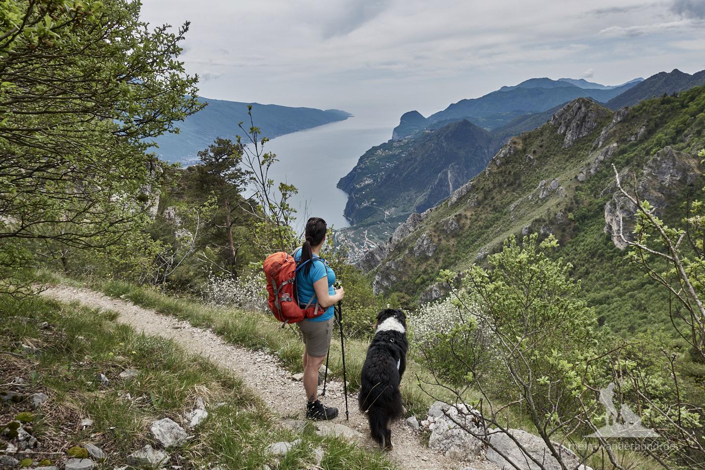 Wandern mit Hund Gardasee - Cima della Nara