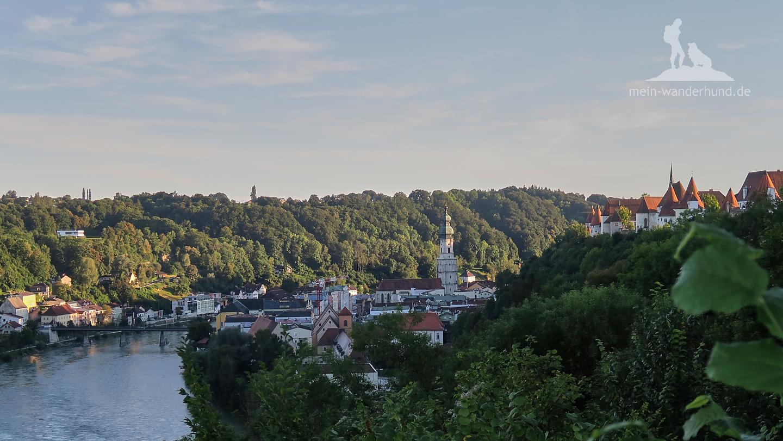 Blick von der Aussichtsplattform auf die Altstadt.