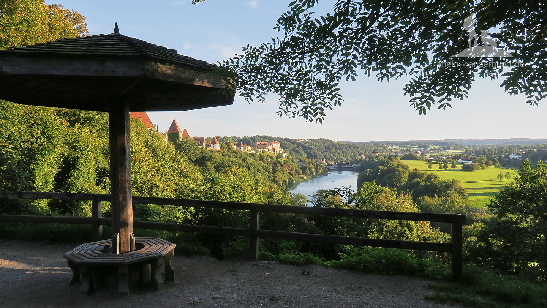 Blick vom Schwammerl auf den Wöhrsee.