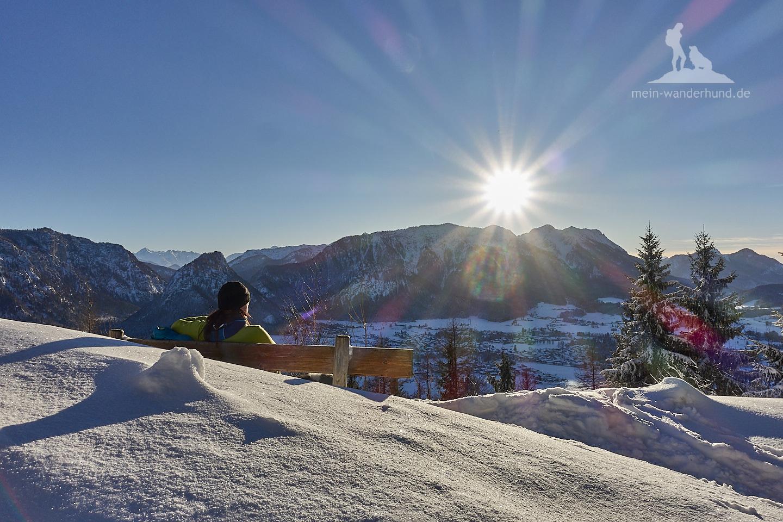 Winter Wanderung Inzell: Wunderschöne Aussicht am Weg
