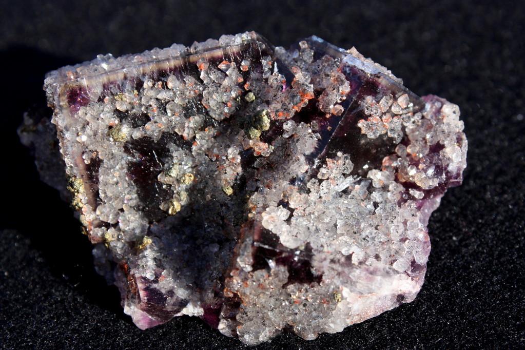 Fluorit / Bergkristall / Kupferkies - Frohnau