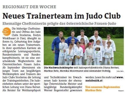 Judo Stockerau Bezirksblätter Niederösterreich