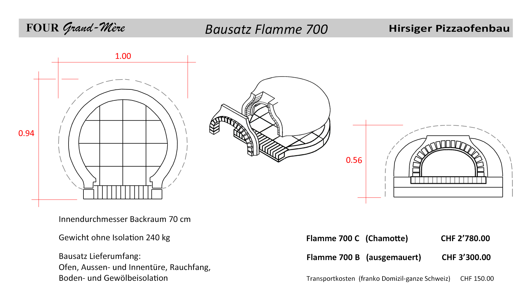 Bausatze Pizzaofenbau Und Bausatze Hirsiger Bern