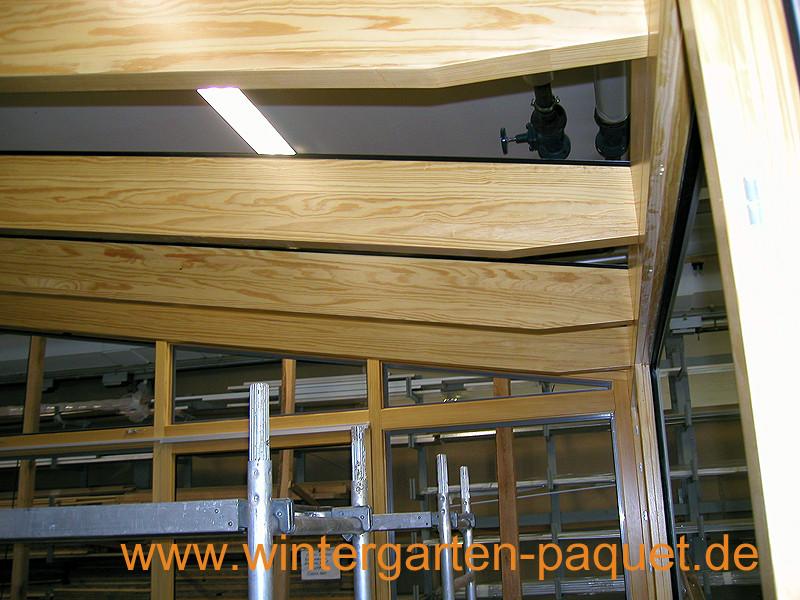 Wintergarten bei Welschensteinach Montage im Werk