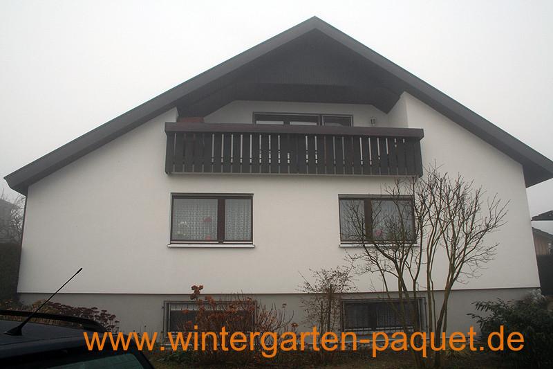 Wintergarten bei Offenburg Ebersweier vorher
