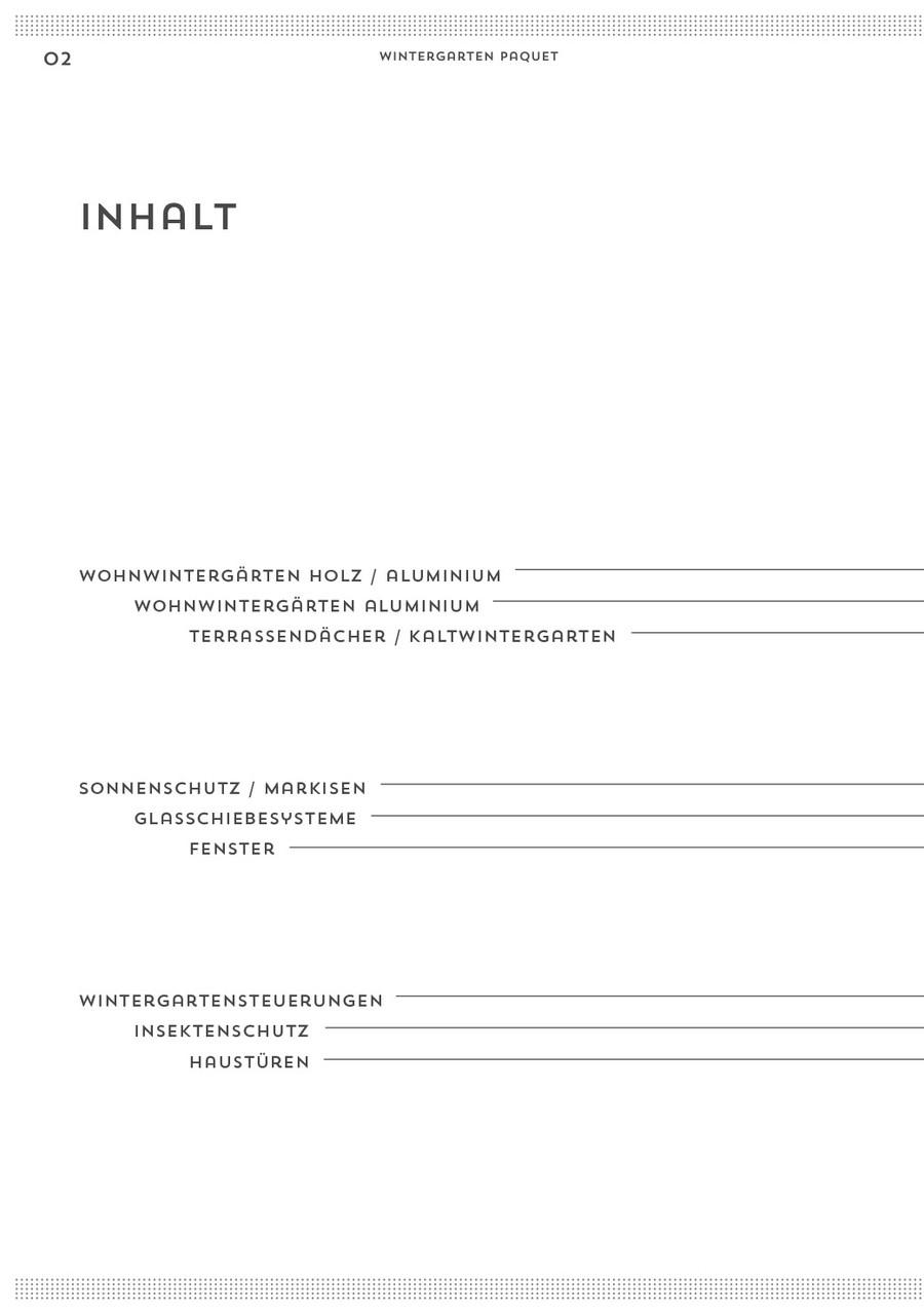 Wintergarten Paquet Broschüre S.2