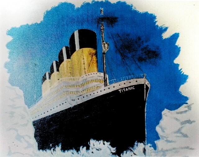 Wandbemalung/Titanic Foto: Anke Pietrowski