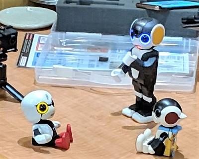 懇親会でロボットご披露
