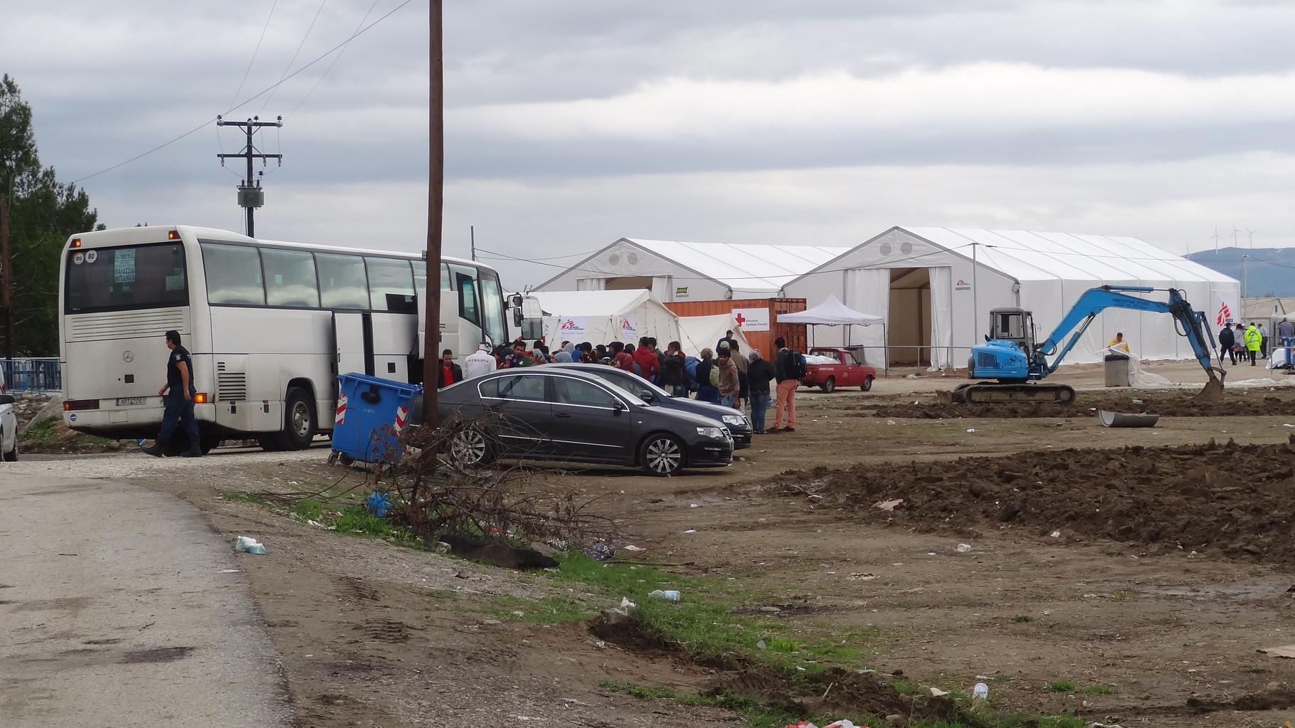 Refugeecamp in Eidomis/Idomeni
