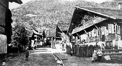 Die Kirchgasse um 1900
