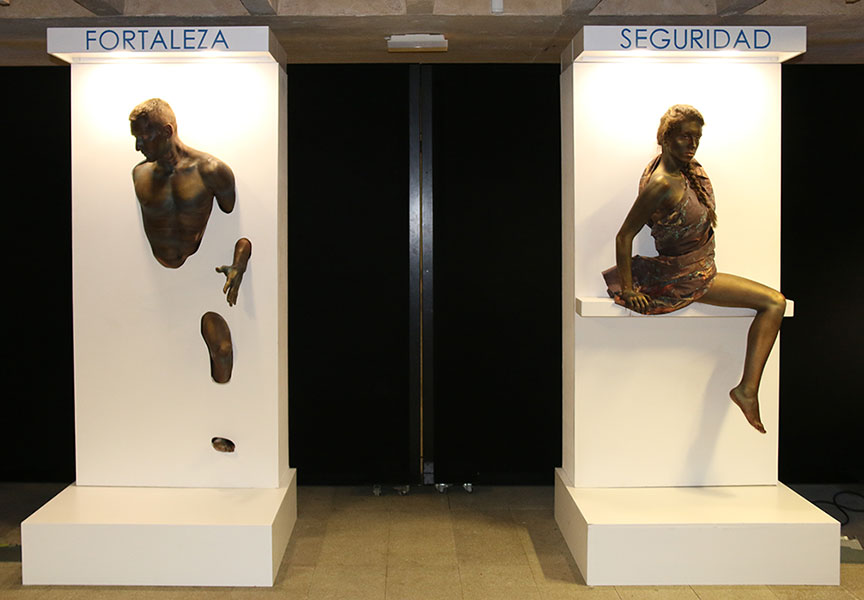 """Sculptures coming from the wall"" COAM event in Madrid 2015"