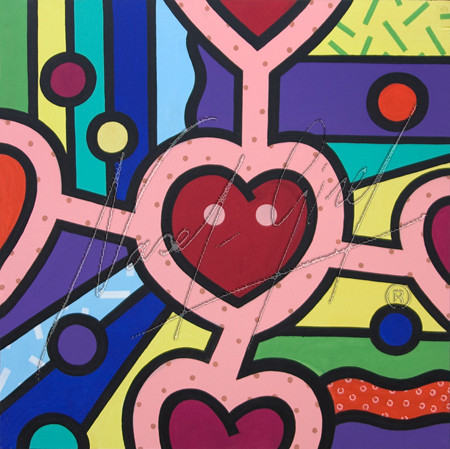 LOVE CONECTION by Nasel. Acrylic on canvas