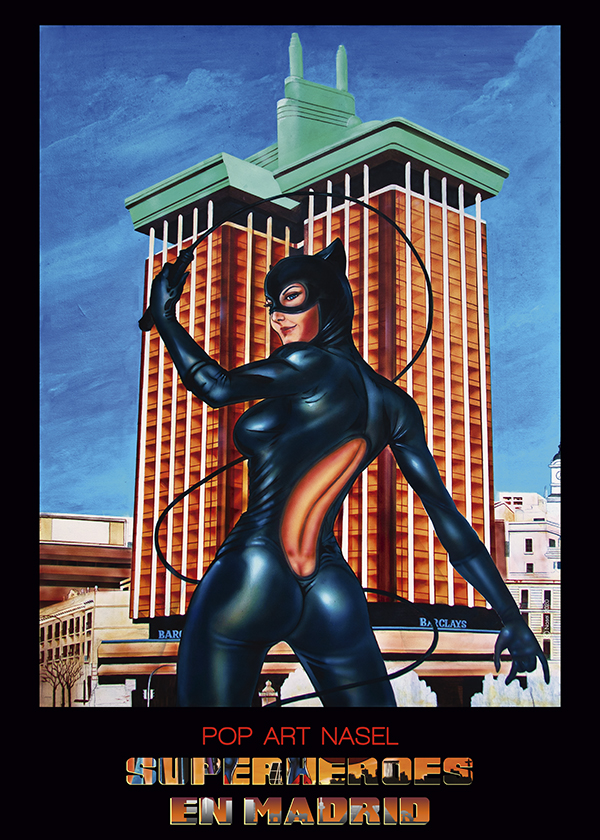 Catwoman, Superheroes in Madrid by Nasel. Print - impresión