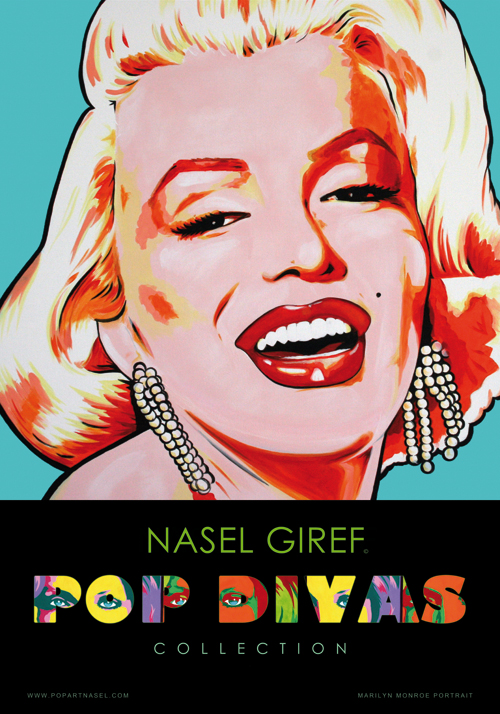 Blue Marilyn poster Pop Divas Collection by Nasel