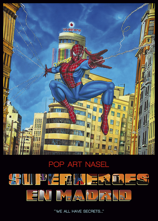 Spiderman, Superheroes in Madrid by Nasel. Print - impresión