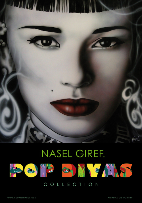 Ariadna Gil. posters Pop Divas Collection by Nasel
