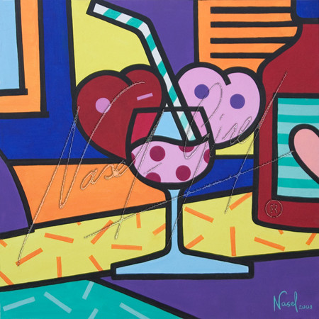 COCTAIL OF LOVE by Nasel. Acrylic on canvas