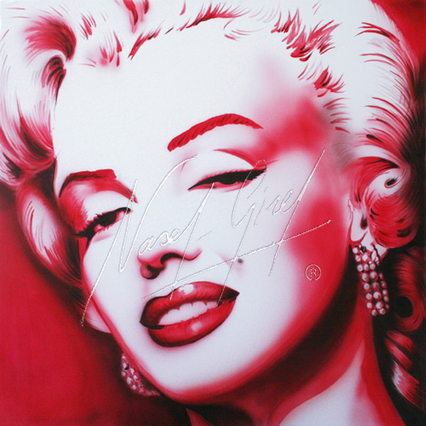 MARILYN IN RED by Nasel