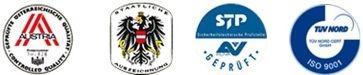 Austria Gütesiegel, Staatliche Anerkennung, STP AV geprüft, ISO 9001