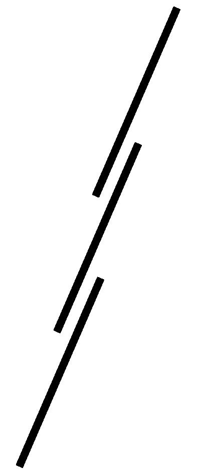 dreiteilige Schiebeleiter