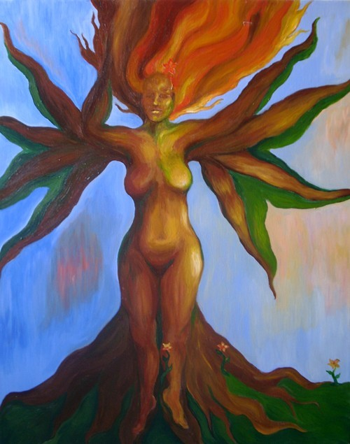 Pele` (Hawaiian goddess of fire)