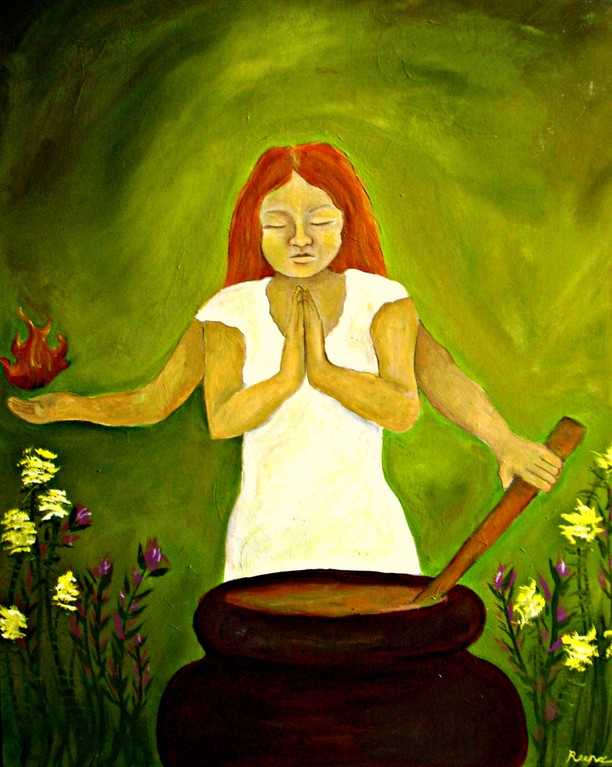 Brigid (Celtic triple goddess of creativity and healing)