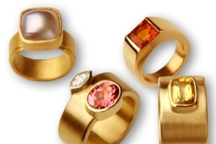 Gold 750/- | Perle | Goldberyll | Citrin | rosa Turmalin, Diamantnavette