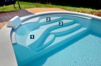Pacio Treppe, Schwimmbeckentreppe, Pooltreppe, Wellnesstreppe
