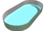 Flacher Boden, Bodenprofil, Schwimmbeckenboden, Poolboden