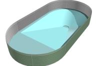 Tauchgraben, tiefer Boden, Bodenprofil, Schwimmbeckenboden, Poolboden