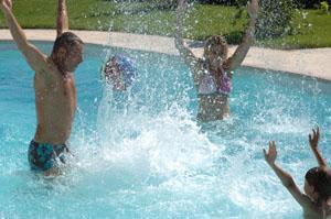 Schwimmbecken, Pool, Garten Schwimmbecken, Garten Pool, wasser