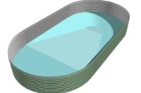 Minigraben, tiefer Boden, Bodenprofil, Schwimmbeckenboden, Poolboden