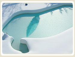 Schwimmbecken, Pool, Überwinterung, passive überwinterung, aktive überwinterung